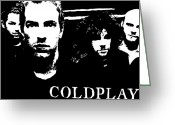 Coldplay Greeting Cards - Coldplay Greeting Card by Paula Sharlea