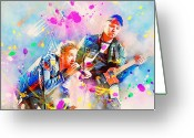 Coldplay Greeting Cards - Coldplay Greeting Card by Rosalina Atanasova