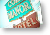 Cole Photo Greeting Cards - Cole Manor Motel Greeting Card by David Waldo