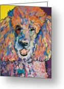 Chalk Pastels Greeting Cards - Cole Greeting Card by Pat Saunders-White