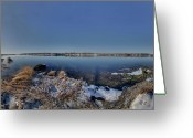Cole Photo Greeting Cards - Cole River Swansea mercator Greeting Card by Christopher Blake