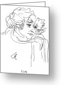 Colette Greeting Cards - Colette (1873-1954) Greeting Card by Granger