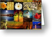 Romanticism Digital Art Greeting Cards - Collage of colors Greeting Card by Mark Ashkenazi