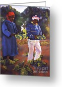 Family Pastels Greeting Cards - Collard Greens III Greeting Card by Curtis James