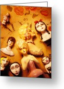 Clock Greeting Cards - Collectable dolls Greeting Card by Garry Gay