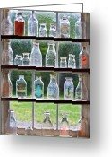 Got Greeting Cards - Collector - Bottles - Milk Bottles  Greeting Card by Mike Savad