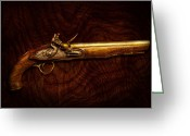 Kill Greeting Cards - Collector - Gun - Flintlock Pistol  Greeting Card by Mike Savad