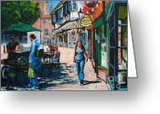 Vacation Greeting Cards - College Street York Greeting Card by Neil McBride