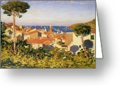South France Greeting Cards - Collioure Greeting Card by James Dickson Innes