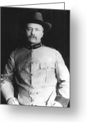 Theodore Greeting Cards - Colonel Theodore Roosevelt Greeting Card by War Is Hell Store