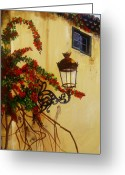 Cuban Painter Greeting Cards - Colonial Corner Greeting Card by Dominica Alcantara