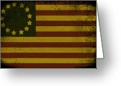 Stars And Stripes.   Greeting Cards - Colonial Flag Greeting Card by Bill Cannon