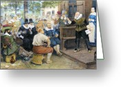 Smoker Greeting Cards - Colonial Smoking Protest Greeting Card by Granger