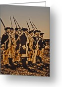 Philadelphia Greeting Cards - Colonial Soldiers on Parade Greeting Card by Bill Cannon