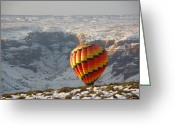Sandstone Bluffs Greeting Cards - Color Above the Canyon Greeting Card by FeVa  Fotos