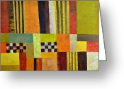 Product Painting Greeting Cards - Color and Pattern Abstract Greeting Card by Michelle Calkins