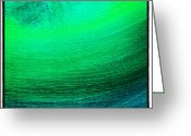 Background Greeting Cards - #color #blue #green #paint #background Greeting Card by Cristina Sferra