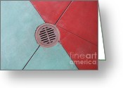 Drain Greeting Cards - Color Drain Greeting Card by Dan Holm