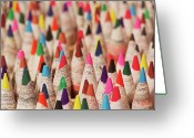 Pencil Greeting Cards - Color Forest Greeting Card by Brandon Goldman