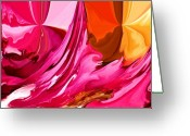 Value Greeting Cards - Color Fusion Greeting Card by Karen M Scovill