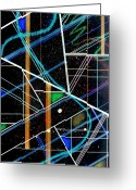 Pen Pastels Greeting Cards - Color Grid Drawing Greeting Card by Dennis Staples