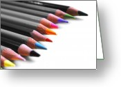 Color Pencils Greeting Cards - Color Greeting Card by Jai Johnson