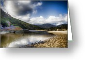 Tidal River Greeting Cards - Color of the Rocks V3 Greeting Card by Douglas Barnard