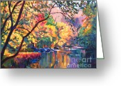 Recommended Greeting Cards - Color Reflections Plein Aire Greeting Card by David Lloyd Glover