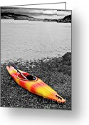 Shoreline Greeting Cards - Color Splash Greeting Card by Meirion Matthias