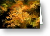 Brown Digital Art Greeting Cards - Color Storm Greeting Card by Tom Romeo