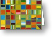 Sketching Greeting Cards - Color Study Collage 64 Greeting Card by Michelle Calkins