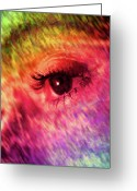 Hansome Man Greeting Cards - Color Vision Greeting Card by Adam LeCroy