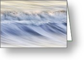Swell Greeting Cards - Color Wave III Greeting Card by Rob Travis