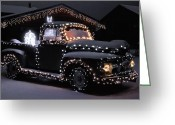 Bob Berwyn Greeting Cards - Colorado Christmas Truck Greeting Card by Bob Berwyn