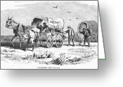 Great Plains Greeting Cards - Colorado Gold Rush, 1859 Greeting Card by Granger