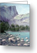 Colorado Rockies Mixed Media Greeting Cards - Colorado High Lake Greeting Card by Kenny Henson