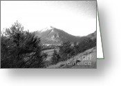 Imac Greeting Cards - Colorado Mountain Sketch Greeting Card by Stephen Lawrence Mitchell