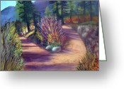 Autumn Roads Greeting Cards - Colorado Paths Greeting Card by Stephen  Hanson