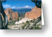 Garden Of The Gods Greeting Cards - Colorado Pike Peaks Greeting Card by Photo Researchers, Inc.