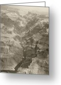 Colorado Framed Prints Greeting Cards - Colorado River and Grand Canyon in Monochrome Greeting Card by M K  Miller