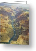 Museum Print Greeting Cards - Colorado River Inside the Grand Canyon Greeting Card by M K  Miller