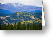 Fall Photographs Greeting Cards - Colorado Rocky Mountain Autumn View Greeting Card by James Bo Insogna