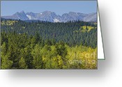 Rocky Mountain Prints Greeting Cards - Colorado Rocky Mountain Continental Divide Autumn View Greeting Card by James Bo Insogna