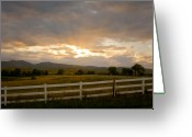 The Lightning Man Greeting Cards - Colorado Rocky Mountain Country Sunset Greeting Card by James Bo Insogna