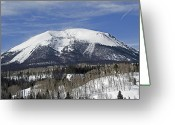 Snow-cap Greeting Cards - Colorado Rocky Mountain High Greeting Card by Brendan Reals