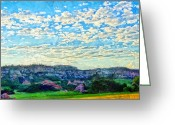 Colorado Mixed Media Greeting Cards - Colorado Skies 1 Greeting Card by Angelina Vick