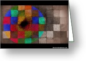 Paul Klee Photo Greeting Cards - Colored Circle Greeting Card by Diane montana Jansson