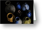 Jugs Greeting Cards - Colored Jugs Greeting Card by Jennifer LaPoint
