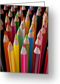 Pile Greeting Cards - Colored pencils Greeting Card by Garry Gay
