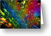 Decorativ Photo Greeting Cards - ColorExplosion Greeting Card by Rosi Lorz